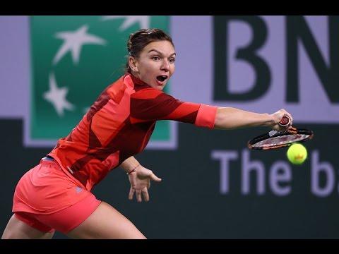 2016 BNP Paribas Open Second Round | Simona Halep vs Vania King | WTA Highlights