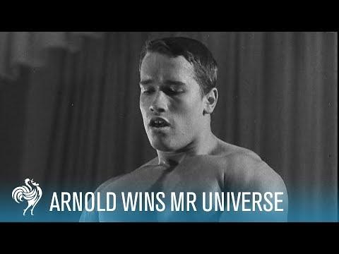 Arnold Schwarzenegger Wins Mr. Universe Bodybuilding Contest (1969)   British Pathé thumbnail