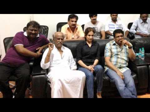 [Stills] - Superstar Rajinikanth Watching First Copy