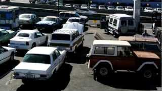 Classic 1970's 1980's Car lot Old Bronco Wagoneer Lincoln Mercedes Oldsmobile