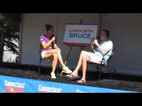Andrea Petkovic with Bruce Barber's  Lunch with Bruce at the Connecticut Tennis Open 2014