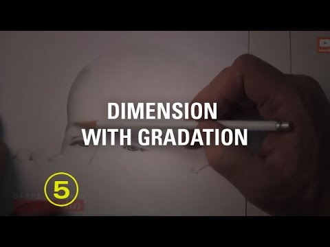 Dramatically Boost Dimension By Drawing Gradations! (Portrait Drawing #2)