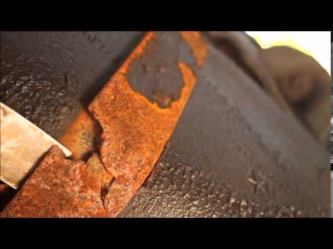 Scary Discovery:  Gas Tank Strap about to Fail