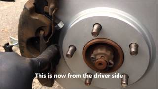 Grand Caravan - Install spring loaded brake caliper clip