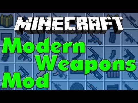 Minecraft Mods #11 - Modern Weapons - Flan's Mod Pack [HD]