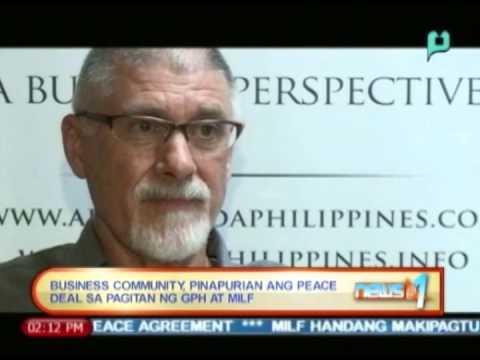 Business community, pinapurihan ang peace deal sa pagitan ng GPH at MILF || Jan. 27, '14