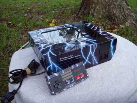 SOLD!!!  Custom NES black, red met, & blue met with airbrushed lightning  Nintendo