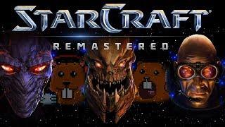Starcraft Remastered Терраны с Майкером (1 часть)