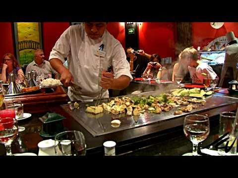 0 Japanese show cooking   part 1   Iberostar Japanese Restaurant