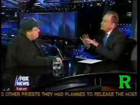 Bill O'Reilly Interviews Michael Moore, DNC 2004 (Part1)