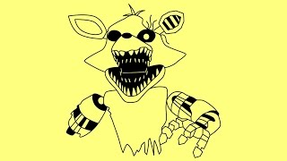 How to draw phantom foxy five nights at freddy s 3 characters fnaf 03