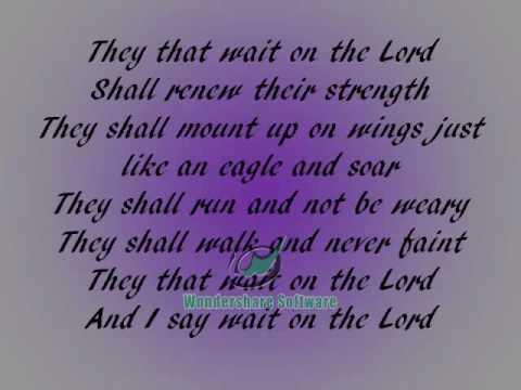 Fred Hammond They That Wait Lyrics video