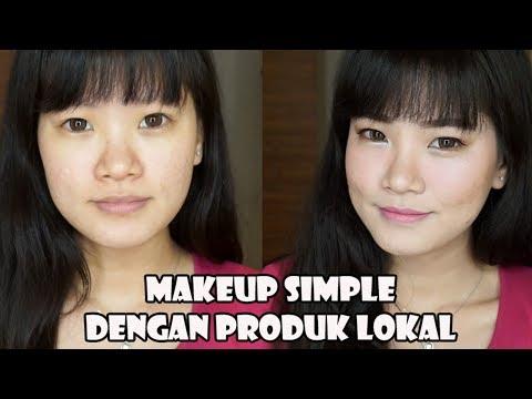 Suka dengan tampilan natural dan seneng pake produk lokal? Nahhh bisa cobain makeup simple ini ^_^