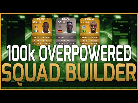 FIFA 14 Ultimate Team   100k OVERPOWERED Hybrid Squad Builder! Cheap And SWEATY!