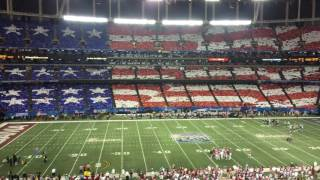 Crowd at Peach Bowl pays a beautiful, patriotic tribute to young singer with illness
