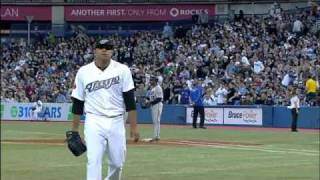 Ricky Romero strikes out 7