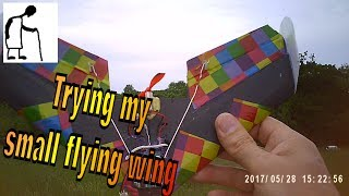Trying my small flying wing again