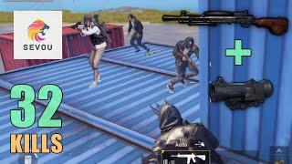 DP-28 + 6x Scope MADNESS!!! | 32 SOLO KILLS | PUBG Mobile
