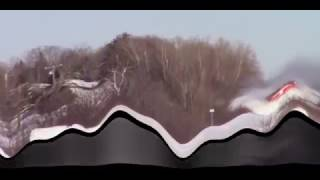 Train Goes Thug on Ginormous Snowbank  - Take 2