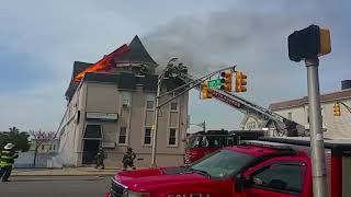 Huge House Fire Break Out in North Bergen