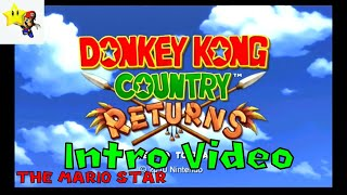 Donkey Kong Country Returns Game Intro Video Nintendo Wii