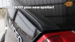 Trunk lip spoiler measuring and installation guide