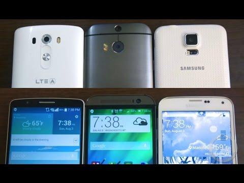 LG G3 vs HTC One M8 vs Samsung Galaxy S5 Review
