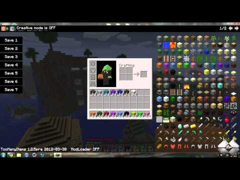 Minecraft Too Many Items Mod 1.2.5