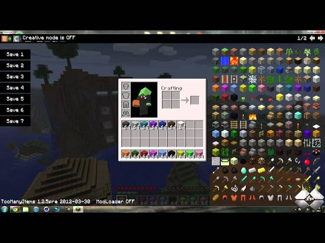 Minecraft 1.2.5 - How To Install Too Many Items