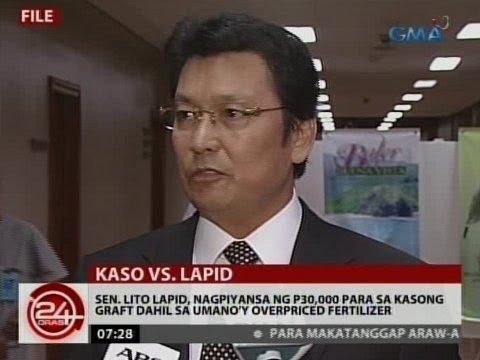 24Oras: Sen. Lito Lapid, nagpiyansa ng P30,000 para sa kasong graft