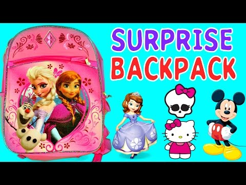 SURPRISE BACKPACK Barbie Monster High Hello Kitty Mickey Mouse Clubhouse Frozen MLP Sofia The First