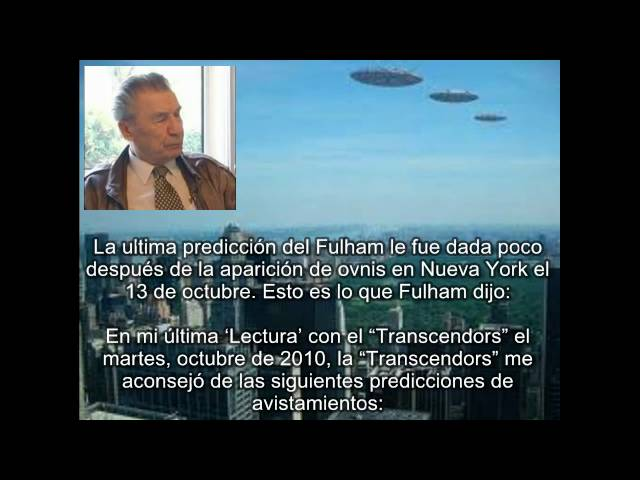 """UFO Sightings Prediction over Moscow and London in January 2011 """"Subtitulos Español"""""""