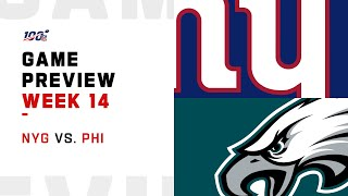 New York Giants vs Philadelphia Eagles Week 14 NFL Game Preview