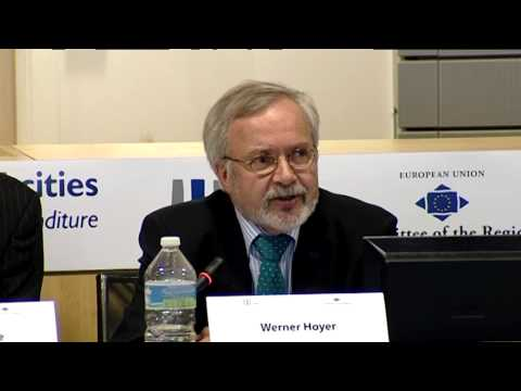 EIB President Hoyer at the Committee of the Regions: