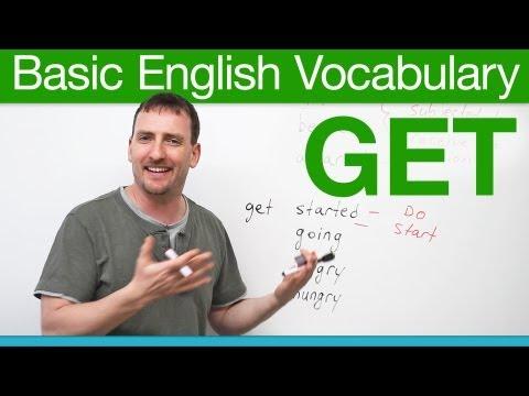 Basic English Vocabulary – GET
