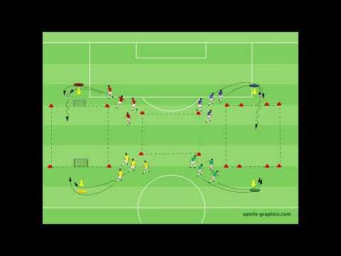 4 Farbenspiel - Kognition - 4 vs 4 - Schnelligkeit - Technik