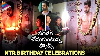 NTR Birthday Celebrations | Fans Celebrating Jr NTR Birthday | #HappyBirthdayNTR | Telugu FilmNagar
