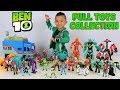 FULL Ben 10 Toys Collection  2017 2018 Fun With Ckn Toys