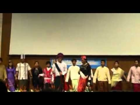 AIU Myanmar Cultural Dance... U Shwe Yoe & Daw Moe...Ethnics dance...