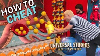 How To Cheat At Universal Studios Carnival Games | BIG GIVEAWAY!