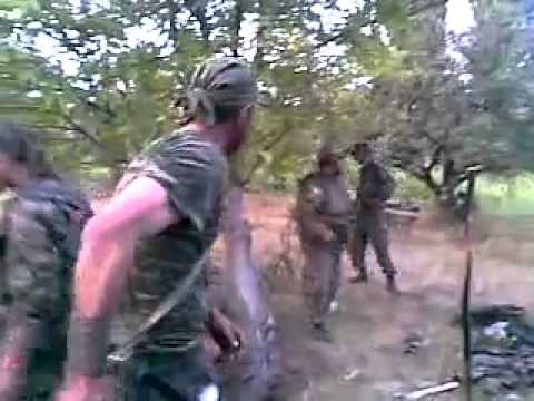 Georgia-Russian war, year 2008. Georgian troops ready for battle.