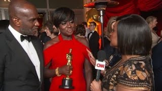 Viola Davis reacts to Oscar win