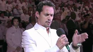 Marc Anthony Sings US National Anthem Star Spangled Banner