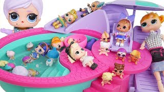 Pool Slumber Party with Wrong Heads LOL Surprise Dolls Mystery Blind Bags