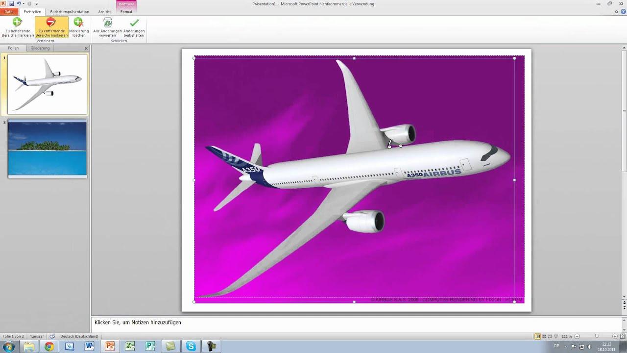 Hintergrund Transparent Bilder - Powerpoint 2010 Tutorial