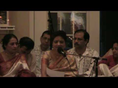 Debasri Mitra Singing Akhila Bimane In Mahalaya At Washington Kali Temple video