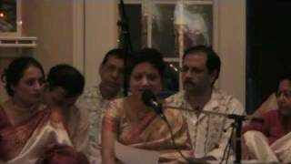 Debasri Mitra singing Akhila Bimane in Mahalaya at Washington Kali Temple