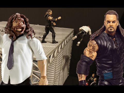 Wwe Undertaker Throws Mankind Off The Cell (animated) video