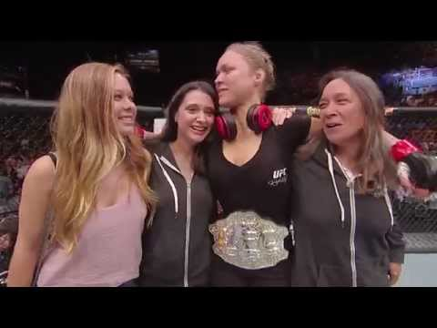 UFC 175 Ronda Rousey Octagon Interview