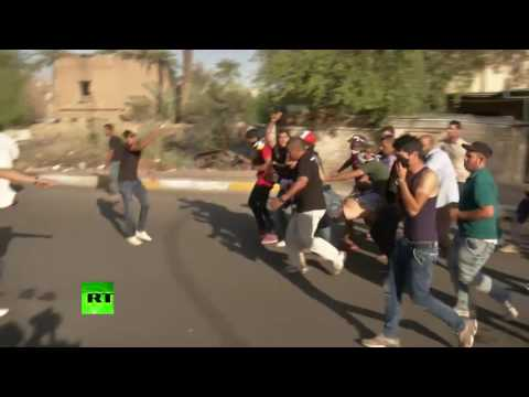 Anti-govt protesters clash with Iraqi forces in Baghdad
